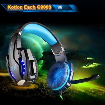 Kotion Each G9000 Gaming Headset with Mic LED Light Fr PS4/Tablet/Cell Phone QQ
