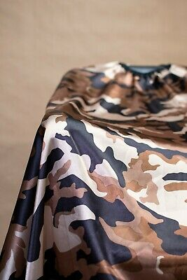 Brown Camouflage Haircut Cape Barber Gown Stylist Hairdresser Cutting Handmade