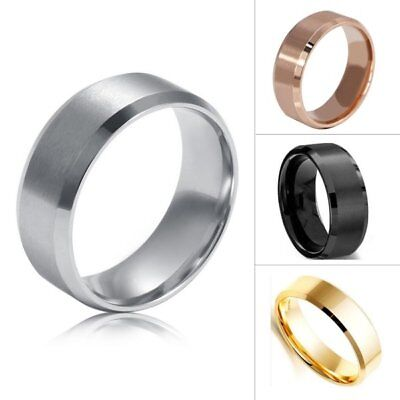 AU 8 MM Titanium Men Women Stainless Steel Band Brushed Wedding Ring Size 5-14