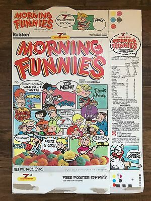 "1988 Vintage Ralston ""MORNING FUNNIES"" (7th Collector Edition) Cereal Box, RARE!"