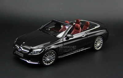 1/18 Mercedes-Benz C-Class Cabriolet A205 Black 2017 i-Scale Kyosho