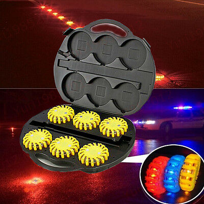 Rechargeable 9 Flash Patterns Car Ceiling Emergency Haze LED Road Flare Lights