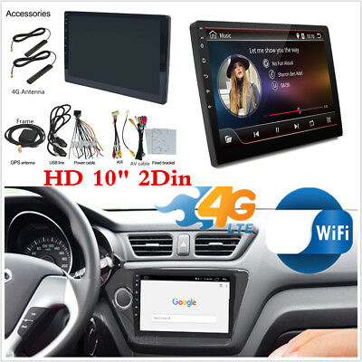 "2Din 1080P 10.1"" Touchscreen Car Stereo Radio GPS Wifi 4G DVD Mirror Link Player"