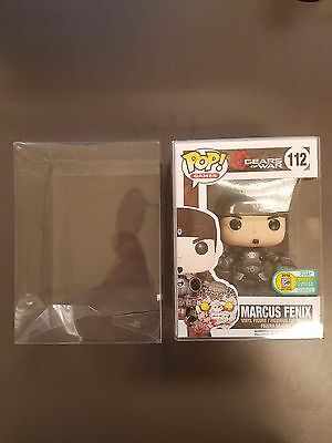 "5 Funko Pop! 4"" Vinyl Box Protector Acid Free 0.50 mm Thickness Crystal Clear"