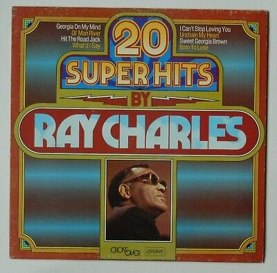 Ray Charles. 20 Super Hits. Lp. Teldec. Very Good Plus