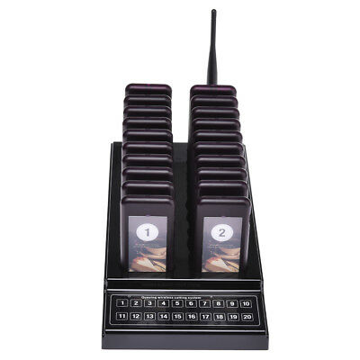 10 Wireless Restaurant Guest Calling Paging Queuing System Coaster Pager+keypad