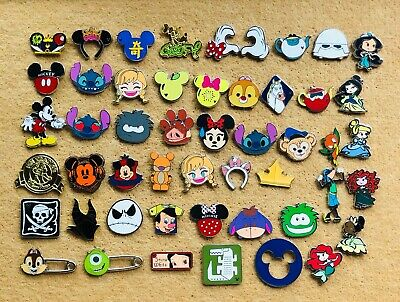 Disney Pin Trading 30 Assorted Pin Lot - Brand New Pins No Doubles Tradable