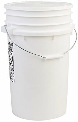 NEW Hudson Exchange Premium 7 Gallon Bucket with Lid, HDPE, White FREE2DAYSHIP
