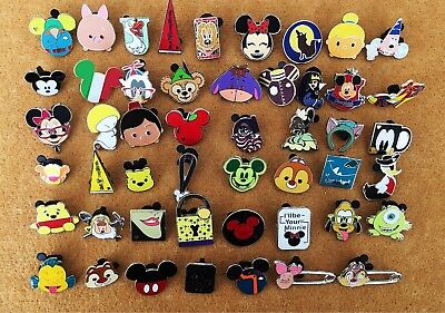 Disney Pin Trading 40 Assorted Pin Lot - Brand New Pins No Doubles Tradable