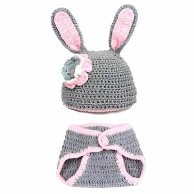 Newborn Baby Girls Knit Crochet Clothes Photo Costume Photography Prop Outfit