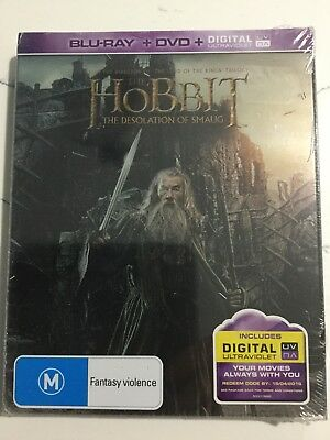 The Hobbit The Desolation Of Smaug STEELBOOK (Blu Ray Region B) ***BRAND NEW***
