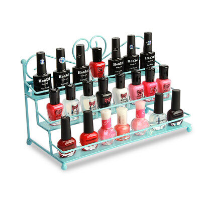 3-Tier Iron Makeup Nail Polish Storage Desktop Rack Holder Local Pick Up Only