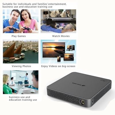 Portable 5500Lumens 4K HD Projektor Android Wifi DLP Home Theater Cinema SD NEW-