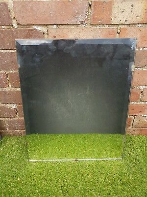 Vintage 1950s Rectangle Frameless Mirror with Bevelled Edge