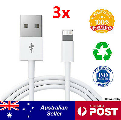 3x USB Lightning Cable Charger Cord Data for Apple iPhone X XS/Max 8 7 6 5 iPad