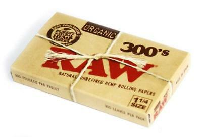 Raw Organic 300 1.25 1 1/4 Size Rolling Papers 1 Pack = 300 Leaves