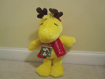 Woodstock Christmas door greeter standing plush new with tags snoopy peanuts