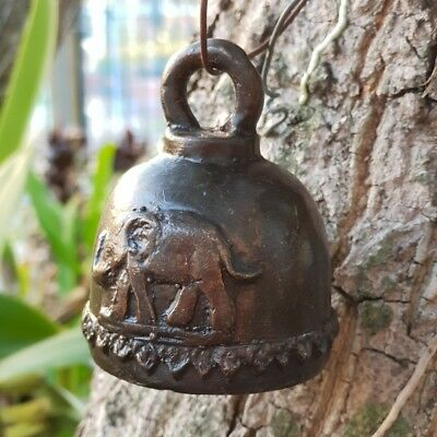 Thai Bell Elephant Buddha Temple Clapper Sound Hanging Decor Collectible Antique