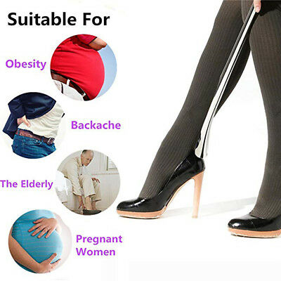 """Extra Long Shoehorn Easy to Reach 21"""" Shoe Horn Longer Handle Alloy Shoehorn"""
