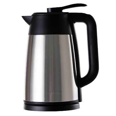 Chefman Cordless Electric Kettle, Stainless Steel Premium Grade Carafe Style