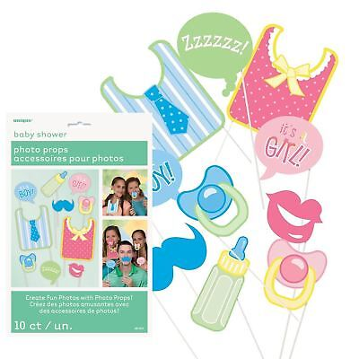 10 Mum To Be Baby Shower Girl Boy Selfie Photo Booth Props party Accessories