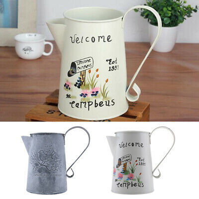 Retro Metal Watering Can Vintage Ornaments Metal Craft Vase Home Garden
