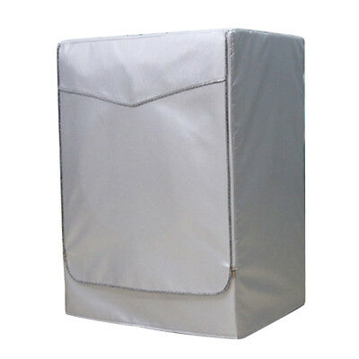 Washing Machine Cover Dust Proof Water Resistant Protector Silver Zip XL