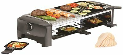 Petra Electric Raclette RC 80.47 Heißer Stein für 8 Personen Raclettegrill Grill