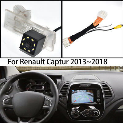 Car Rear View Parking Reverse Backup Camera Adapter for Renault Captur 2013~2018