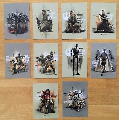2017 Star Wars ROGUE ONE  Topps Series 2  PRIME FORCES Complete INSERT Set of 10