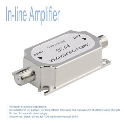 Satellite 20dB In-line Amplifier 950-2150MHZ Signal Booster For Antenna SA