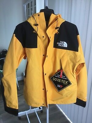 ... uk new the north face mens 1990 mountain jacket gtx gore tex supreme  yellow l 38db8 109aad384