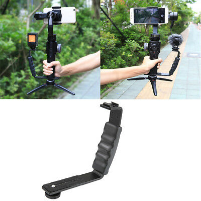 Fill Light Microphone Stand Rig Extension L-Bracket for DJI OSMO Mobile 2