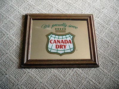 Vintage Canada Dry Bar Mirror - Great Gift for Man Cave, Den or Garage!