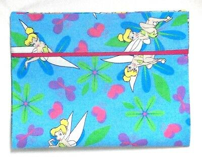 Tinkerbell Toddler Pillowcase on Turquoise Cotton TB2-12 New Handmade