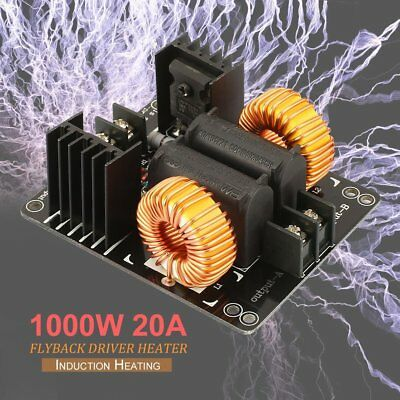 1000W 20A ZVS Low Voltage Induction Heating Coil Module Flyback Driver Heater DT