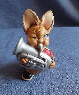 Pendelfin BLASTER Made in England playing the tuba