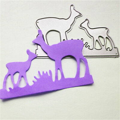 Deer Mother and Baby Metal Cutting Dies For Scrapbooking Card Craft Decor YR