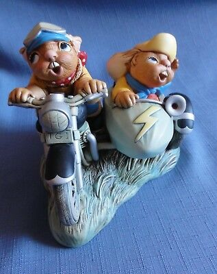 Pendelfin HARLEY N DAVEY Made in England riding on a motorcycle