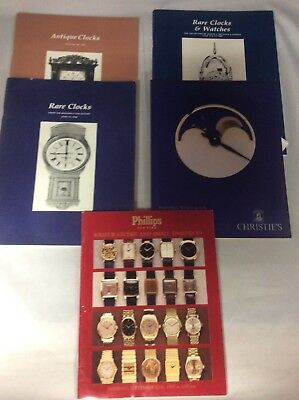 Misc. Clocks Watches Christie's Phillips Lot of 5 Private Collections Catalogues