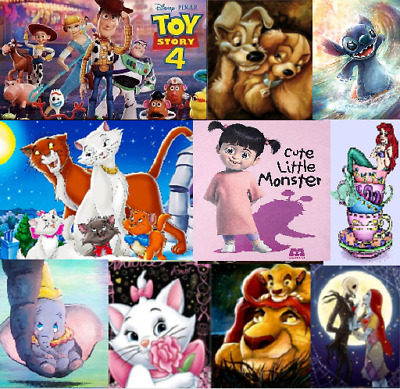 5D Diamond Painting Embroidery Cross Stitch Disney and cute Animals Crafts New