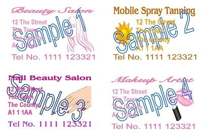 Business Cards 50 Personalised Printing Hair Tan Beauty Nails Make up Mobile