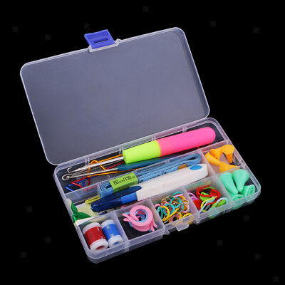 80pcs Home Knitting Accessories Kit Tools Yarn Crochet Hook Stitching Needle