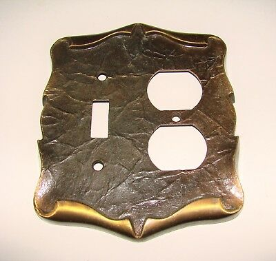 Vintage Amerock Carriage House Antique Brass Outlet / Light Switch Cover Plate