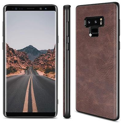 Luxury PU Leather Slim Back Skin Case Cover For Samsung Galaxy Note 9 S9 Plus