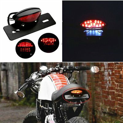 Red 12V Motorcycle Tail Brake Light Indicator LED License Plate Light  Bracket