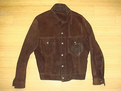Vtg 50s Brown Suede Type 2 Work Jacket Chore Type 3 Type ll AMAZING COLOR RARE