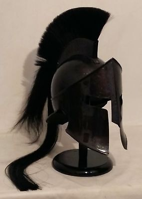 Pearl Black 300 Movie King Leonidas Spartan Helmet Ancient Spartan The Vikings