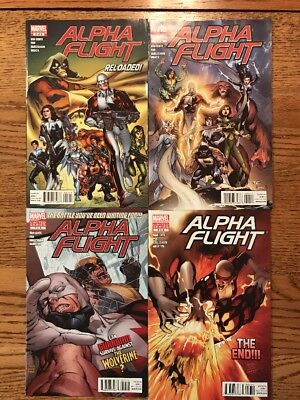 Alpha Flight Comic Lot Of 4 Marvel Limited Series 5 6 7 8 Out Of 8