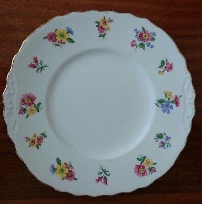 Vintage Royal Vale Bone China Colourful Floral Square Plate